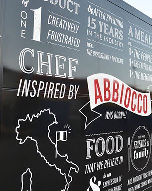 Side of Abbiocco Catering Truck